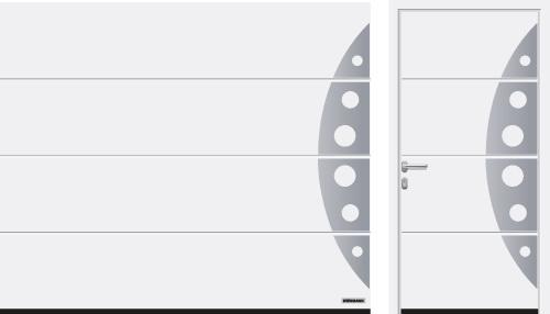 L-гофр (LPU 67 Thermo, LPU 42), мотив 458, транспортний білий RAL 9016